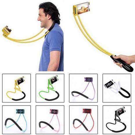 Imagem de Andoer O telefone de suspensão preguiçoso do pescoço está o suporte de suporte de celular de colar PESCOÇO