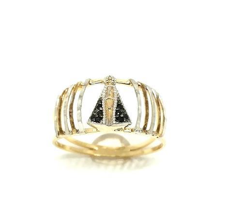d650d815ef7c8 Anel de ouro 18k Nossa Senhora Aparecida com pedras - Midasstore ...
