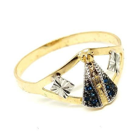 5f99c59e1382f Anel de ouro 18k Nossa Senhora Aparecida - Midasstore - Anel ...