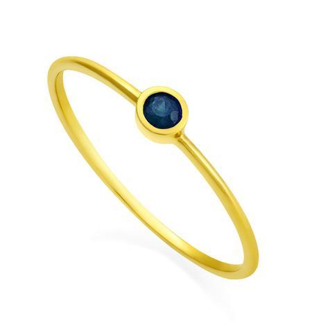 d09e62afc11ab Anel de Ouro 18k Solitário com Safira an32196 - Joiasgold - Joia e ...