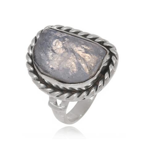 55352124a3f Anel de Prata Trançado Pedra da Lua - Sal do mar - Joia e Bijuteria ...