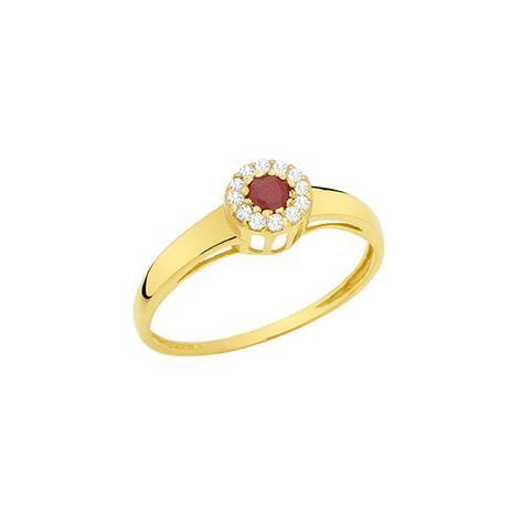 dd638e2fe40 Anel Esférico Ouro 18k com 1 Rubi e 10 Diamantes - Napoleon Joias ...
