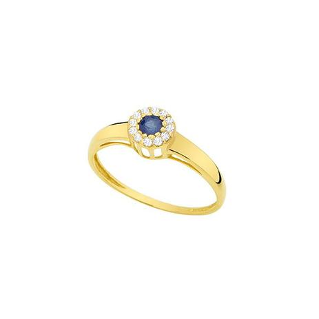 Anel Esférico Ouro 18k com 1 Safira 10 Pontos e 10 Diamantes 0,6 Ponto -  Napoleon Joias f7e4c2ef34