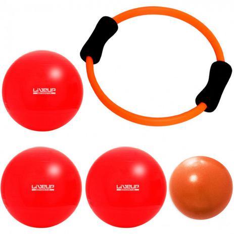 Anel Flexivel + Over Ball 25 Cm + 3 Bolas Suicas 45 Cm Liveup ... 3f03ee8cf5434
