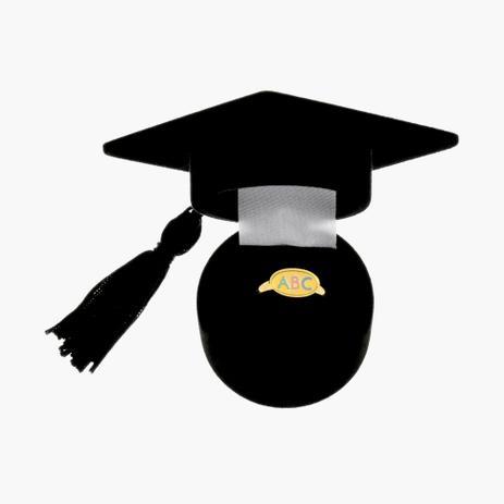 Imagem de Anel Infantil Folheado a Ouro ABC com Detalhe em Resina com Caixa para Presente