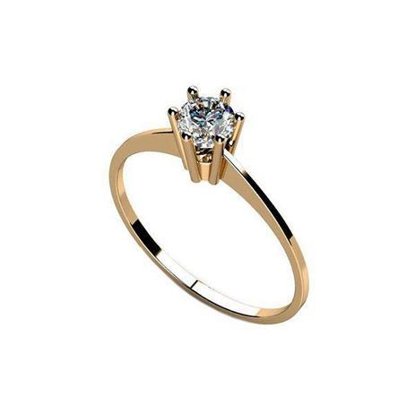 fefe232751a50 Anel Solitário de Compromisso Noivado em Ouro 18k Zircônias - cod.15610 -  Retran joias