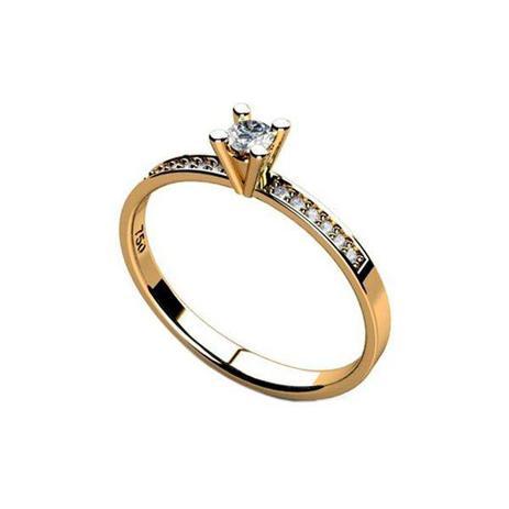 7c88a98aca59f Anel Solitário de Compromisso Noivado em Ouro 18k Zircônias - cod.16019 - Retran  joias