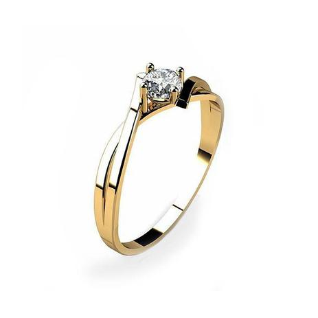 Anel Solitário Ouro 18k Com Pedra Zircônia 15 Pontos - cod.11024 - Retran  joias d7cb4813ce