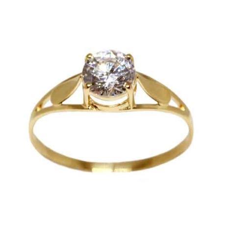Anel Solitário Ouro 18k Com Pedra Zircônia - cod.13941 - Retran joias fcf8078628