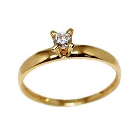 Anel Solitário Ouro 18k Zircônia 15 Pontos - cod.8798 - Retran joias ... 2a675bcd3f