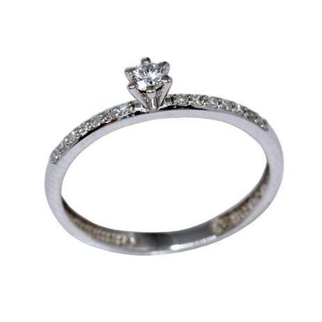bc004334fb9a8 Anel Solitário Ouro Branco 18k Diamantes - cod.9430 - Retran joias ...
