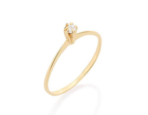 2b53281128a Anel solitário zircônia - folheado ouro - Rommanel - Joias e ...