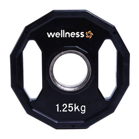 Imagem de Anilha Poliuretano Furação Olímpica 12 Faces com Pegada 1,25kg Wellness