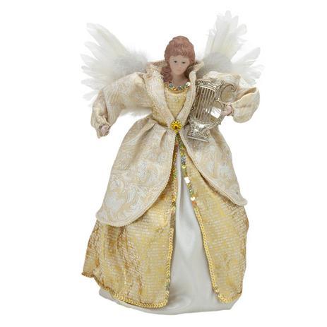 Imagem de Anjo Natal Bege Angelus Santini Christmas 40cm