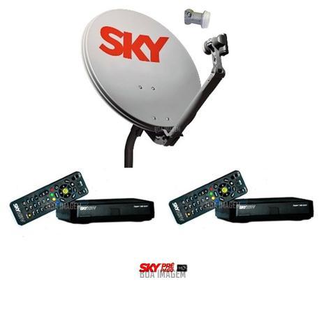 Antena Sky Pré Pago Flex Hd com 2 Receptores - Vivensis - Antena - Magazine  Luiza