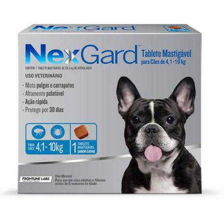 Imagem de Antipulgas e Carrapatos para Cães Nexgard M de 4,5 a 10kg Tablete Mastigável