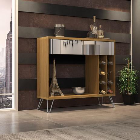Imagem de Aparador Bar Buffet Cartier C/ Espelho Pés de Metal Cinamomo