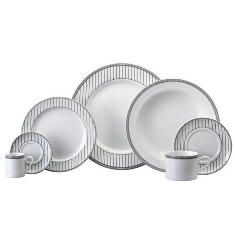 Imagem de Aparelho de Jantar, Chá e Café Porcelana Schmidt 42 Peças - Dec. Aline