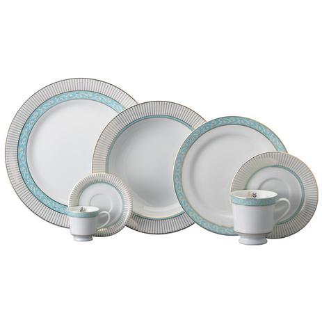 Imagem de Aparelho de Jantar, Chá e Café Porcelana Schmidt 42 peças - Dec. Audrey