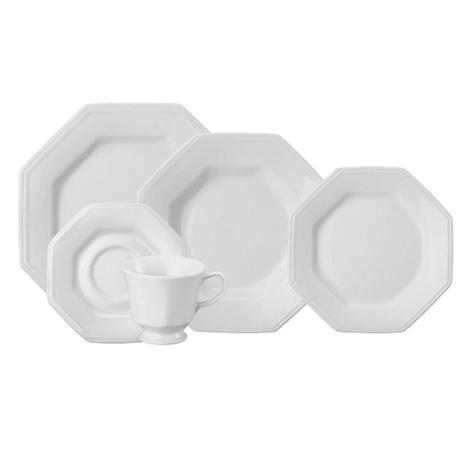 Imagem de Aparelho de Jantar Chá Schmidt Porcelana Prisma 20 Peças