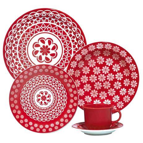 Imagem de Aparelho De Jantar E Chá 30 Peças Floreal Renda 005227 Oxford