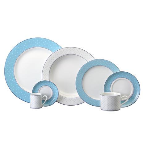 Imagem de Aparelho de Jantar e Chá Porcelana Schmidt 30 Peças - Dec. Maitê