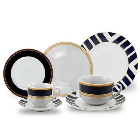 Imagem de Aparelho de Jantar Porcelana Navy 42 Peças Class Home