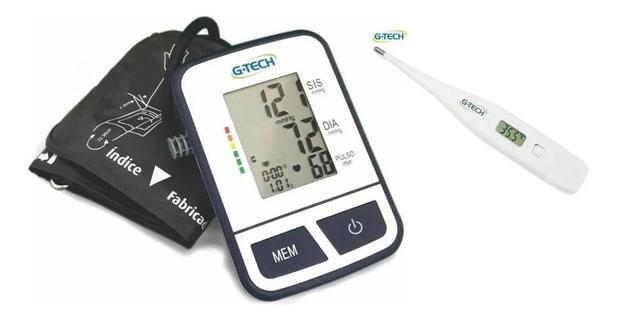 Imagem de Aparelho De Medir Pressão Arterial Digital De Braço + Termômetro