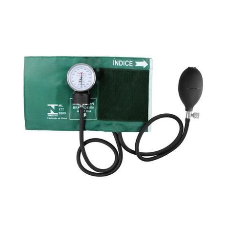 Imagem de Aparelho de Pressão Esfigmomanômetro Premium Nylon e Fecho de Contato - Verde