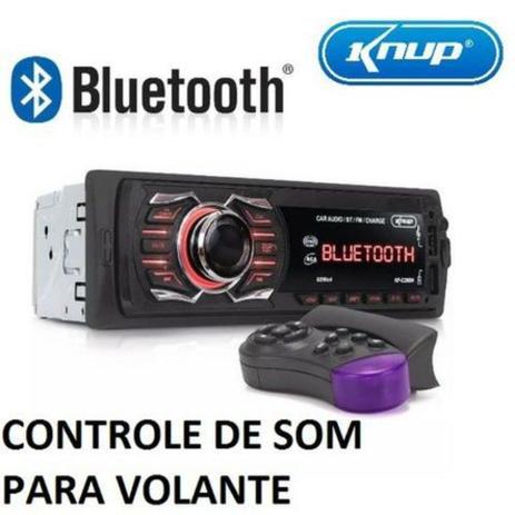Imagem de Aparelho De Som Automotivo Radio Carro Bluetooth Usb Mp3 Fm