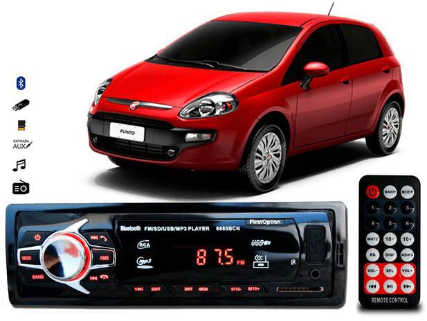 Imagem de Aparelho De Som Mp3 Fiat Punto Bluetooth Pendrive Rádio