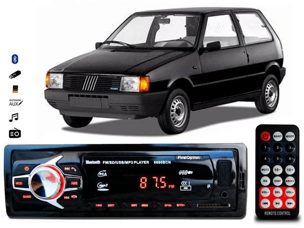 Imagem de Aparelho De Som Mp3 Fiat Uno Bluetooth Pendrive Rádio