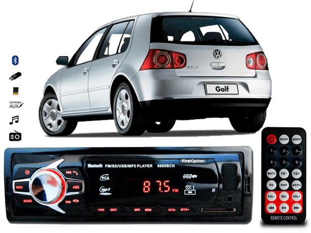 Imagem de Aparelho De Som Mp3 Vw Golf Bluetooth Pendrive Rádio