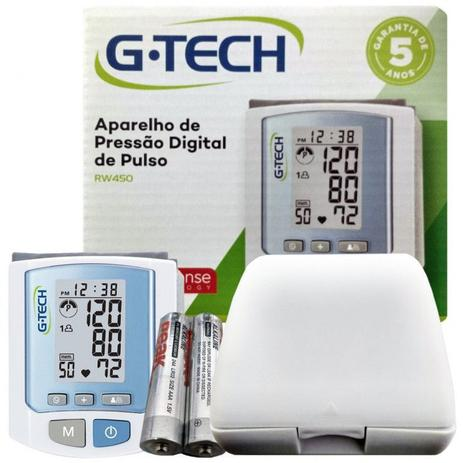 Imagem de Aparelho Medidor de Pressão Arterial Digital Automático De Pulso G tech Rw 450
