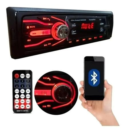 Imagem de Aparelho Som Automotivo Rádio Bluetooth Usb E Leitor Sd Enivo Imediato