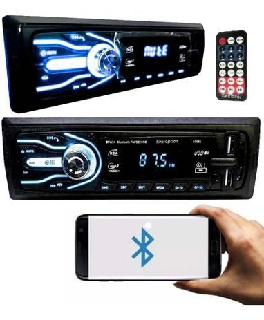 Imagem de Aparelho Som Automotivo Rádio Bluetooth Usb E Leitor Sd - First Option Oferta