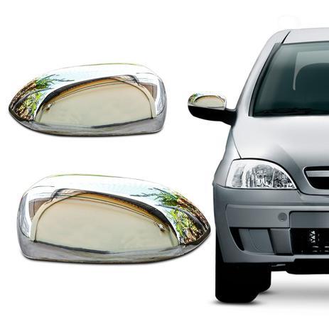 Imagem de Aplique Cromado Retrovisor Corsa Hatch Sedan 2002 a 2012 Montana 2002 a 2010 Design Original