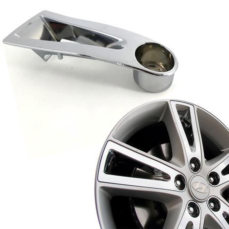 Imagem de Aplique de roda liga leve Hyundai I30 2009 a 2012 cromada