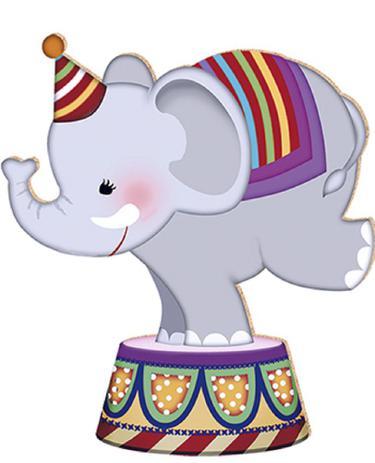 Imagem de Aplique Decoupage Litoarte APM8-046 em Papel e MDF 8cm Elefante