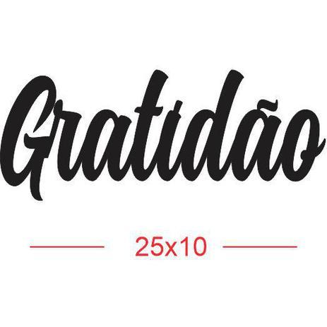 Imagem de Aplique em MDF palavra GRATIDÃO