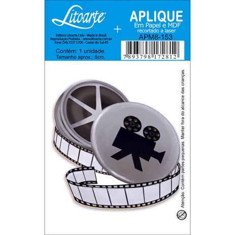 Imagem de Aplique MDF e Papel Litoarte 8 cm - Modelo APM8- 153 Rolo de Filme