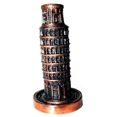 Apontador Retro Miniatura Torre De Pisa Envelhecido Versare Anos
