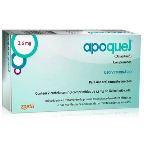 Imagem de Apoquel Dermatológico Anti Coceira Cães 3,6 Mg