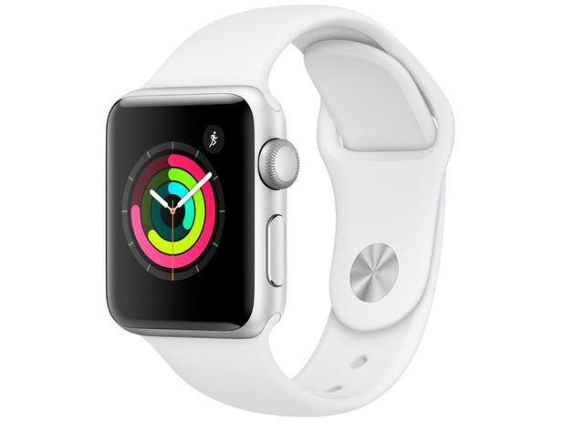7a319bd6224 Apple Watch Series 3 38mm GPS Integrado - Wi-Fi Bluetooth Pulseira  Esportiva 8GB