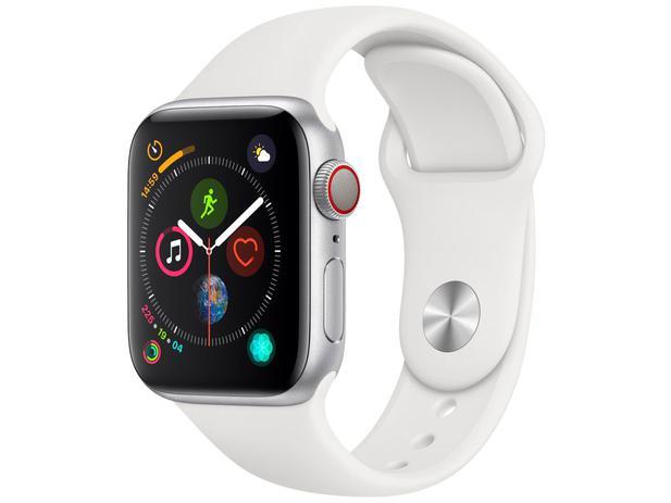 bef5d6f2456 Apple Watch Series 4 40mm Cellular GPS Integrado - Wi-Fi Bluetooth Pulseira  Esportiva 16GB