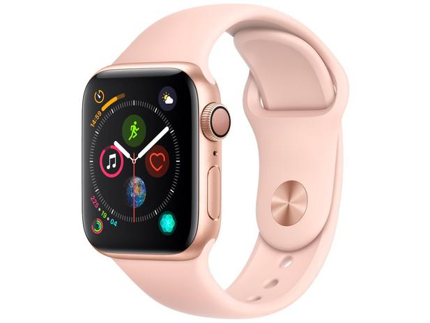 570874fc386 Apple Watch Series 4 40mm GPS Integrado Wi-Fi - Bluetooth Pulseira  Esportiva 16GB Caixa Alumínio