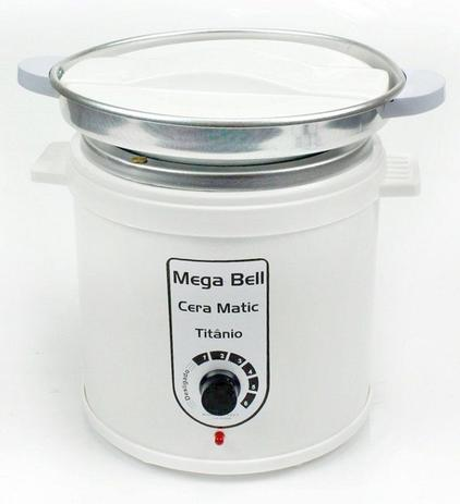 Imagem de Aquecedor de Cera Titânio 1kg Bivolt - Mega Bell Com Refil Branca