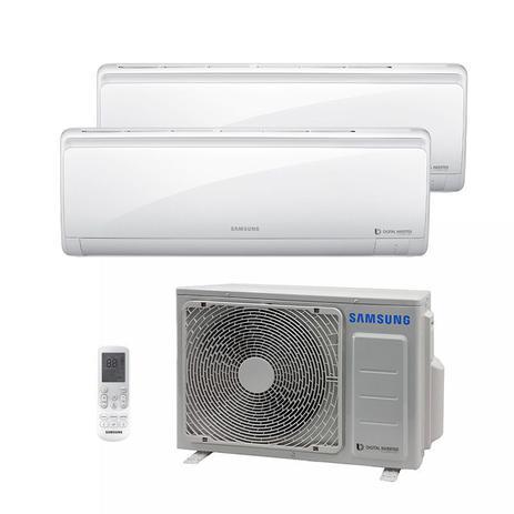Imagem de Ar Condicionado Multi Bi Split Hw Inverter Samsung 1X9000 1X12000 Btus Quente/Frio 220V 1F AJ017NCJ2CH/AZ