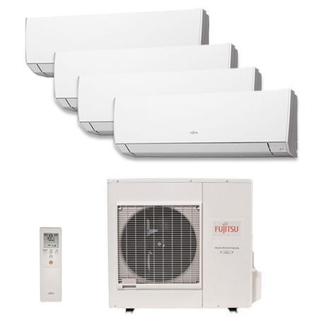 Imagem de Ar Condicionado Multi Quadri Split Fujitsu Inverter 4X9000 Btus Hw 220v Quente/Frio 1F AOBG30LAT4