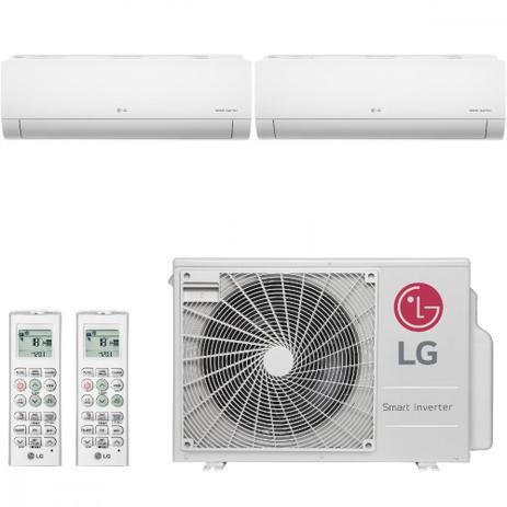 Imagem de Ar Condicionado Multi Split Inverter LG 18000 BTUs 2x 9000  Quente Frio A2UW18GFA2   220V